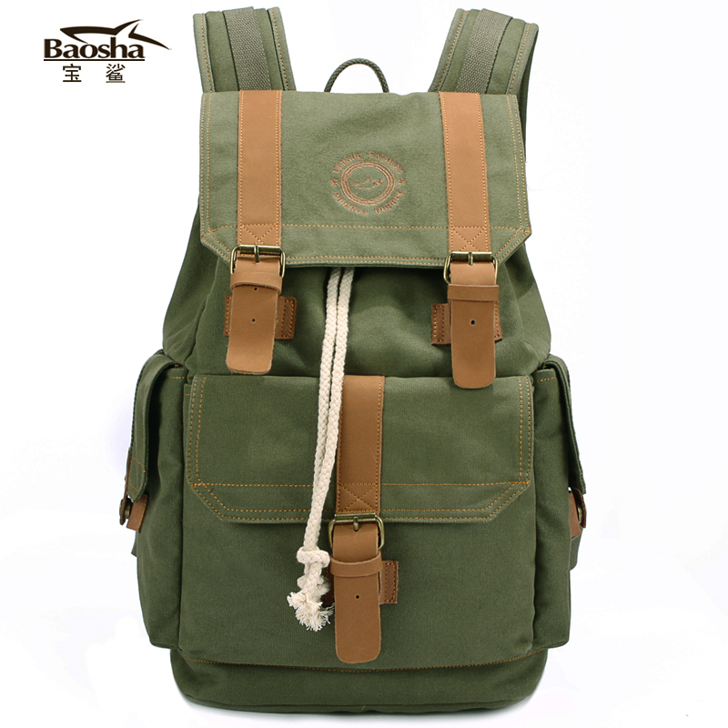 ФОТО Large capacity 2016 new brand design men travel backpack bags casual canvas student school bag