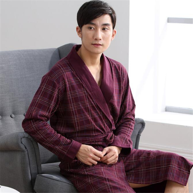 Detail Feedback Questions about Man Robes Full Thin Cool Male Soft Long  Sleeve Home Wear Bathrobes Casual Spring Summer Autumn 2019 A5310 on  Aliexpress.com ... 65788dc11