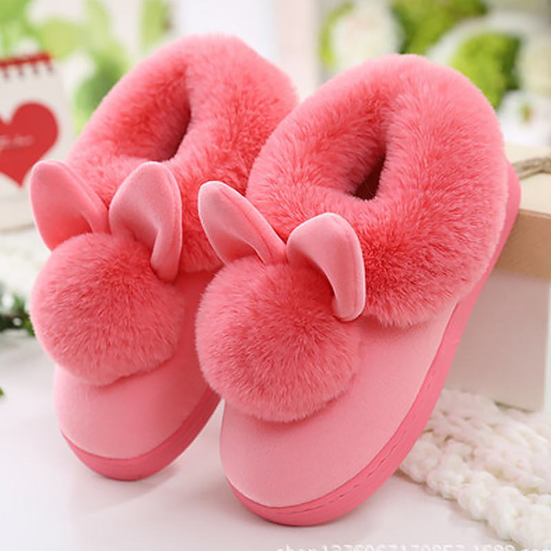 Ladies lovely cute home slippers 2017 new arrival soft basic female slippers winter warm shoes women plus size 36-41
