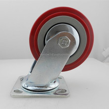 zhuomiao 1pcs Wholesale double ball bearing castor wheel 6 inch heavy duty pvc caster