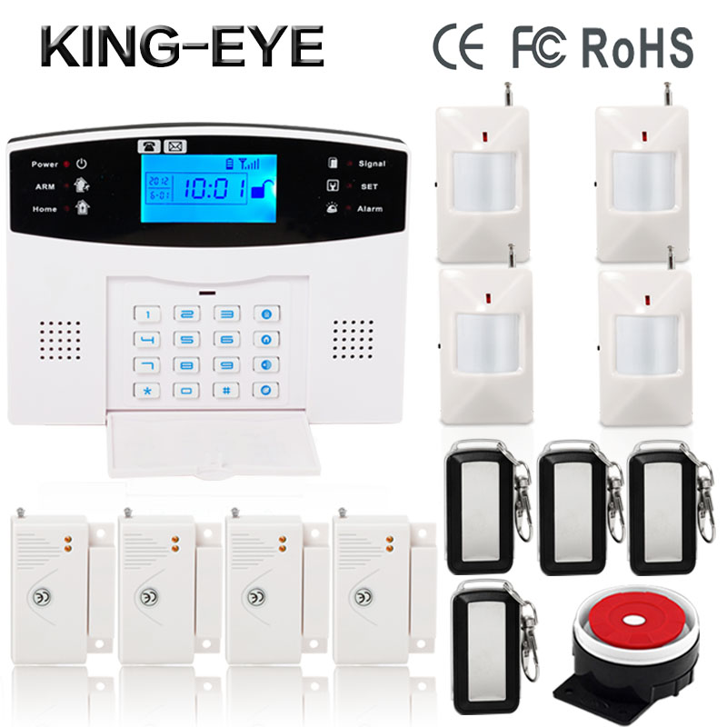 2017 QOLELARM GSM SMS Security Burglar Home Alarm System PIR movement detector IOS Android APP Control kerui w2 wifi gsm home burglar security alarm system ios android app control used with ip camera pir detector door sensor