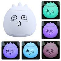 7 Colorful Multiple Shape LED Silicone Lamp USB Charging LED Night Light Creative Gifts Soft Cartoon