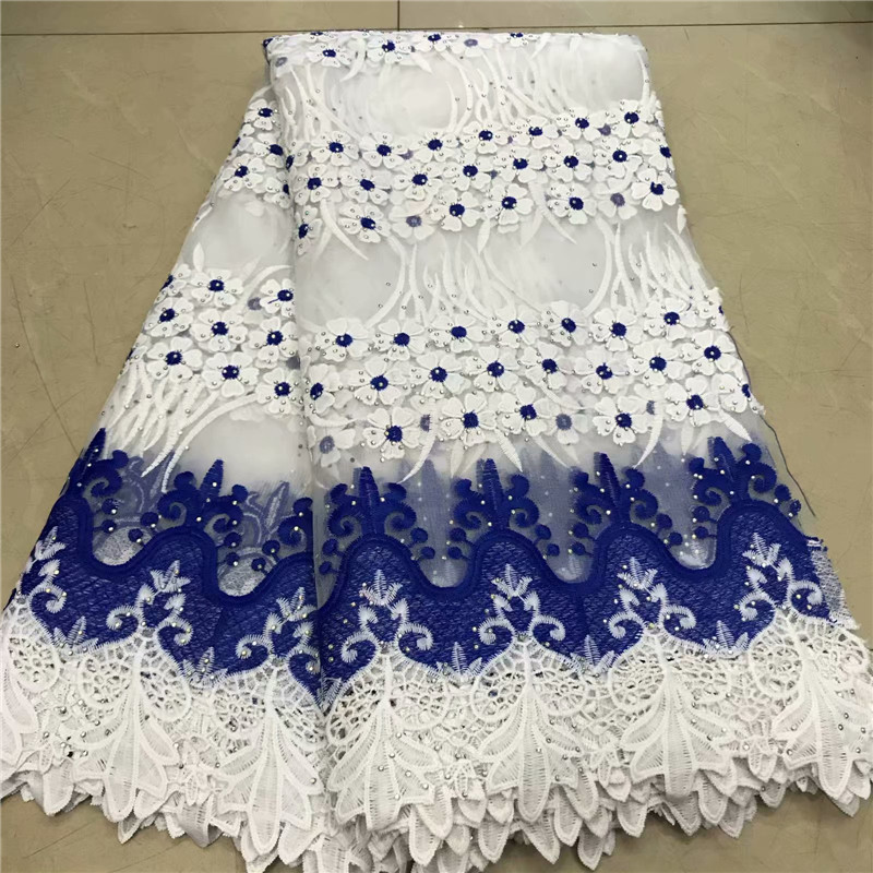 New Design African Lace Fabric 2019 High Quality Lace Nigerian Embroidery Tulle French Lace Milk Silk