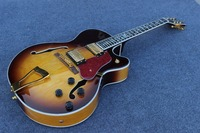 HOT double F hole JAZZ L5 Electric guitar custom,Factory direct sales, can be a large number of custom,body top