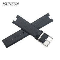 ISUNZUN Watch Straps For CK K1S21120 K1S21102 KIS21100 Watch Band Nato Leather Strap Brand Genuine leather Watchband