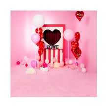 Laeacco Happy Valentine's Day Love Hearts Balloons Cartoon Scene Photography Backdrops Photographic Backgrounds For Photo Studio цена