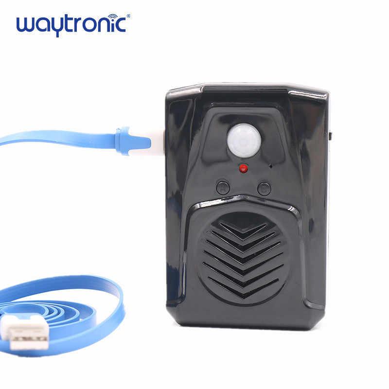 ワイヤレス Pir モーションセンサー検出器活性化ハロウィンサウンドスピーカー小型悲鳴ボックスセキュリティ警報システムモール