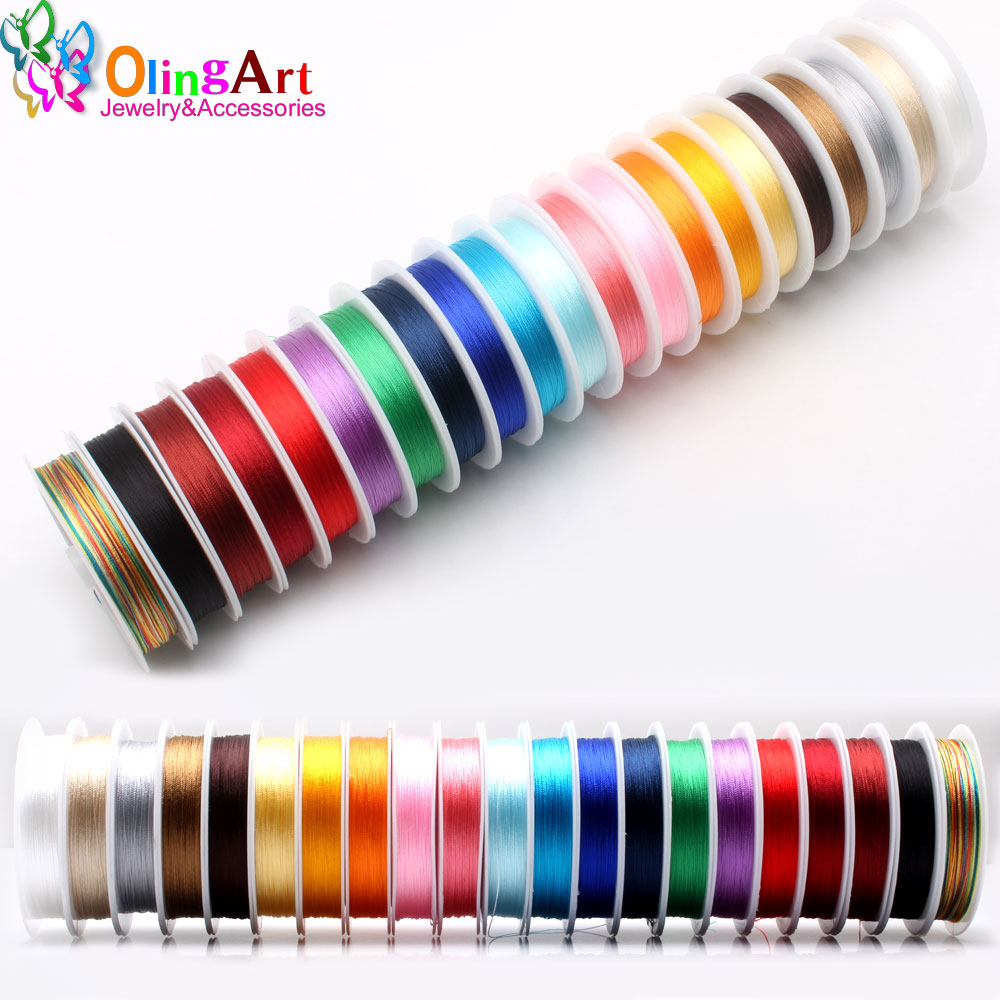 OlingArt 0.3/0.5/0.7/1.0MM Mixed Multicolor Options Nylon Thread Line/wire/rope Choker Earrings Bracelet Necklace Jewelry Making