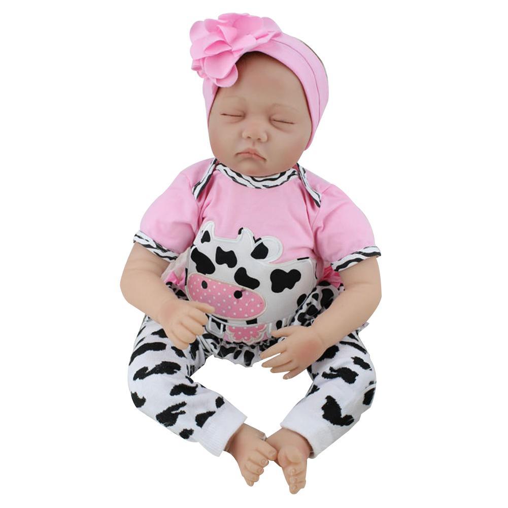 2018 nouveau populaire mignon beau jouet 22 pouces Reborn bébé poupée vinyle Silicone réaliste jouet fille pour les enfants accompagnent