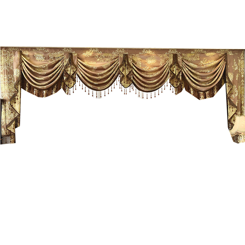 Curtain Valance Swag Lambrequin for Living Dining Room Bedroom Luxury Style Window Swag European Royal Style
