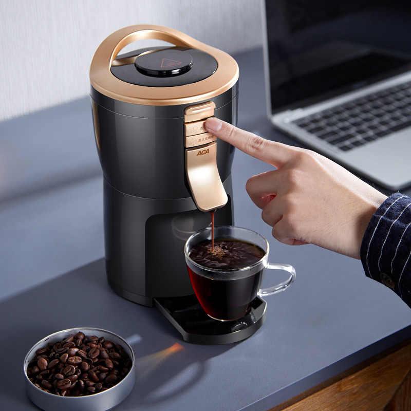 Totalmente automático americano máquina de café moedor doméstico portátil pequeno moagem café, feijão em pó, chá