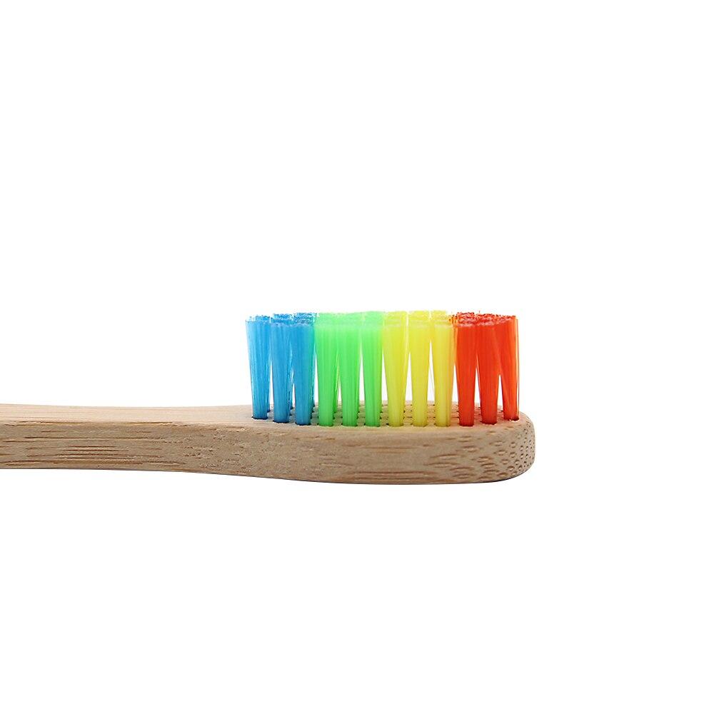 Genkent красочные головы Бамбука Зубная щетка Оптовая Продажа окружающей среды деревянный Радуга Бамбука Зубная щетка уход за полостью рта