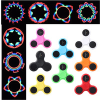 LED RGB Pattern Fidget Spinner Shiny Hand Finger Spinner 12 Pattern Gyro Toy For ADD & ADHD Sufferers Helps Relieve Stress