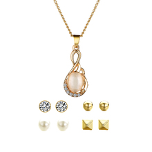 Jewelry Necklaces Pendants Earrings + Necklace Chinese Supplier Sets Pendant Set Round