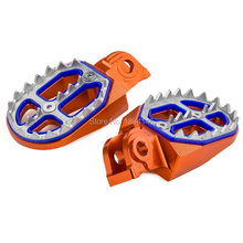 Shark Tooth MX Racing Foot Pegs For KTM 65 85 105 125 250 EXC MXC SX SX-F XC XCF XCW Orange