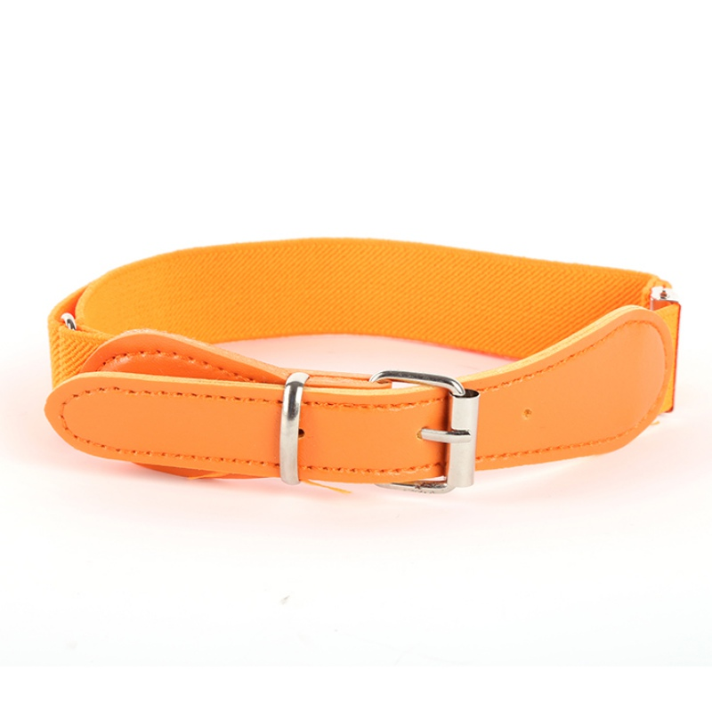 Fashion Kid Boy Girl Waist Belt Polyester+PU Leather Elastic Waistband Adjustable ...