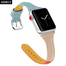 Leather strap for Apple watch band correa 42mm 38mm iwatch 4 3 2 1 44mm 40mm fashion bracelet belt for apple watch Accessories strap for apple watch band 4 44mm 40mm correa iwatch 42mm 38mm 3 2 1 leather double tour bracelet apple watch 4 accessories