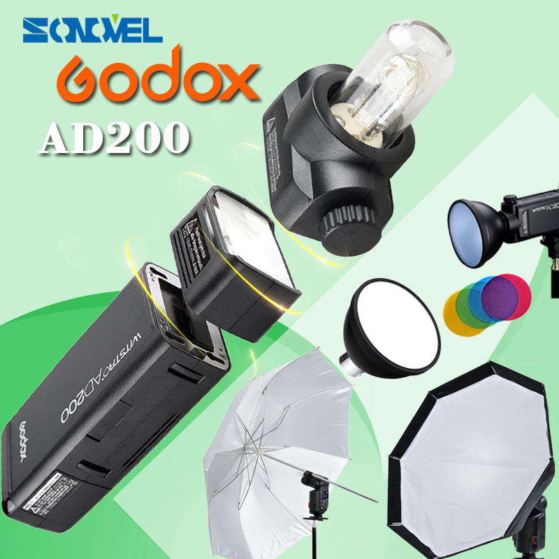 GODOX AD200 kit Photography suit include GODOX AD-S2+AD-S11+AD-S7 GODOX AD-S5+GODOX XIT for CANON for NIKON for SONY станислав лем собрание сочинений в 2 томах комплект