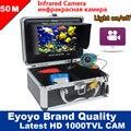 """Eyoyo Original 50 M Inventor Dos Peixes de Pesca Submarina Camera DVR Gravação De Vídeo 1000TVL 7 """"Monitor de Infravermelho IR LED Livre Sunvisor"""