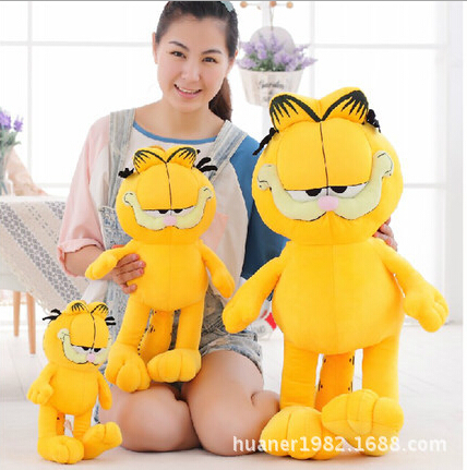 60cm Plush Garfield Cat Plush Stuffed Toy High Quality Soft anime Figure Doll Free Shipping 1pc 20cm free shipping hot selling cartoon toy plush garfield cat plush stuffed toy high quality soft plush figure doll
