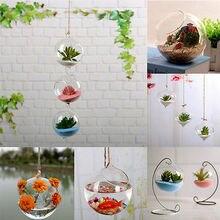 Новейшая ваза для дома и сада из прозрачного стекла, ваза для цветов, контейнер для террариума, новое украшение для дома, ремесла