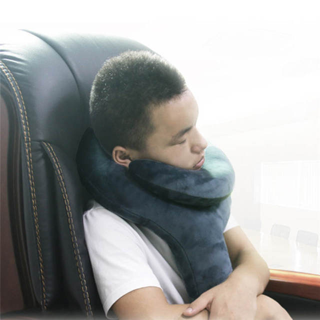 Comfortable Travel Neck Brace Pillow Inflatable Packable
