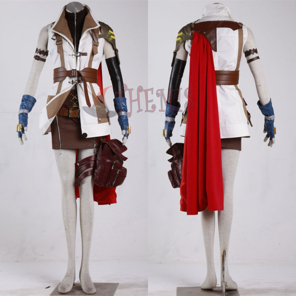 Athemis real <font><b>doll</b></font> <font><b>sex</b></font> <font><b>doll</b></font> set Final Fantasy XIIIFF13 Lightning Eclair Farron Cosplay Custume for <font><b>100cm</b></font> <font><b>doll</b></font> image