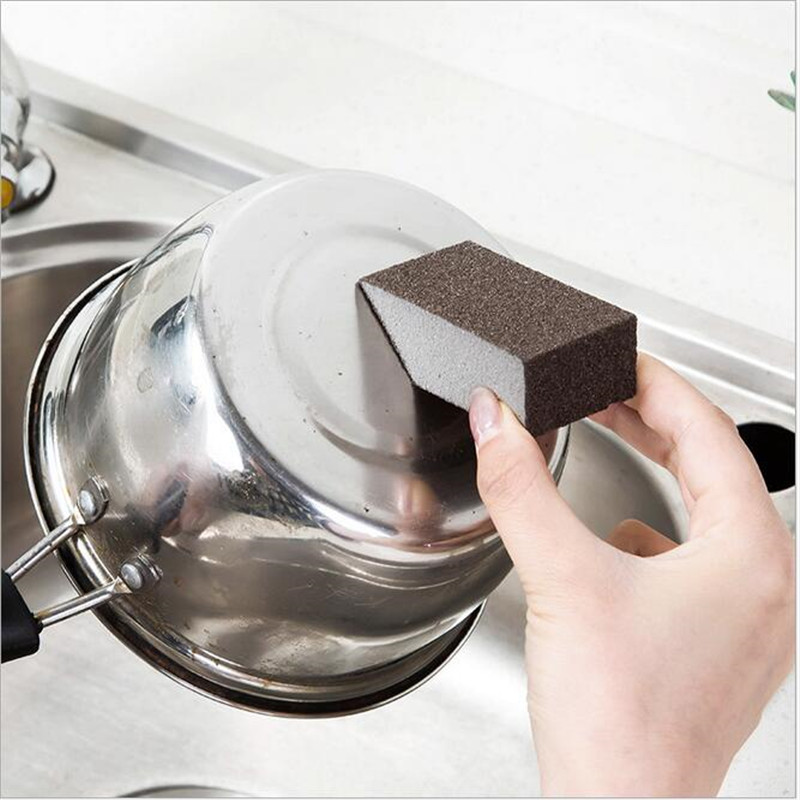 Image 3 - 3PCS Portable Mini Clean Emery Decontamination Sponge Dishwashing Cleaning Sponge Artifact Kitchen Tool Clean crevice-in Sponges & Scouring Pads from Home & Garden