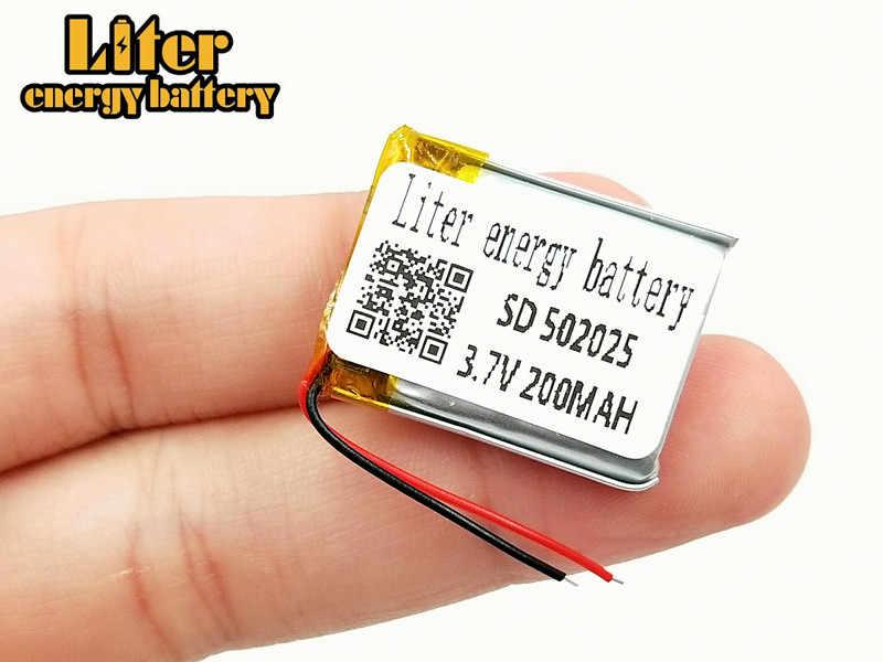 3.7 V 200 mAh 502025 Lithium polymère li-po Li ion batterie Rechargeable Lipo cellules pour MP3 MP4 jouets haut-parleur tachygraphe POS
