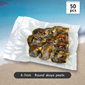saltwater pearls pack of 10 Charming 6-7mm Akoya pearl in oyster 50pcs