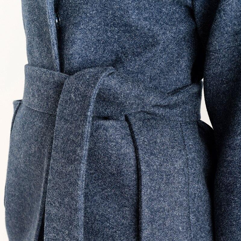 Ceinture Simple 6xl Manteau Femmes Plus Tranchée long Épaisse Laine 018 Automne Lâche Moyen Taille Royal Bleu 4xl Hiver La Avec Cachemire Classique FH6wnHx0p