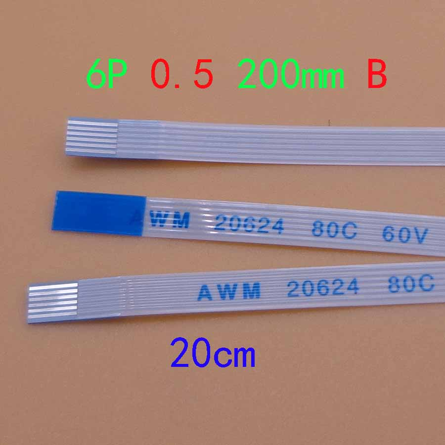 1pc New Power Switch Flex Cable For Asus A550 A550C X550 X550V X550VC X550C X550CC FFC FPC Flexible Cable Length 20cm 6-Pin