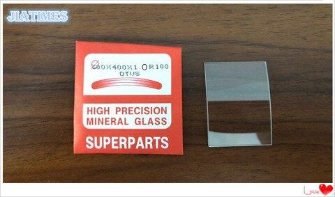 Milímetros de Espessura de Vidro Curvada para o Corte Extra Branco Mineral Assista Cristais Retangular 20 Pcs 1.0