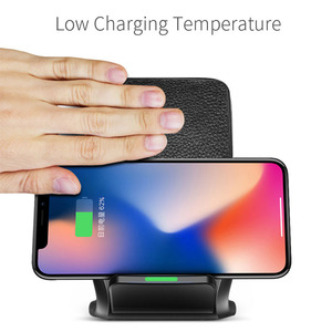 Image 3 - 10W Fast Qi Wireless Charger Phone Stand Wireless Charging Induction Charger For iPhone XR XS Max X 8 Plus Samsung Galaxy S9 S8