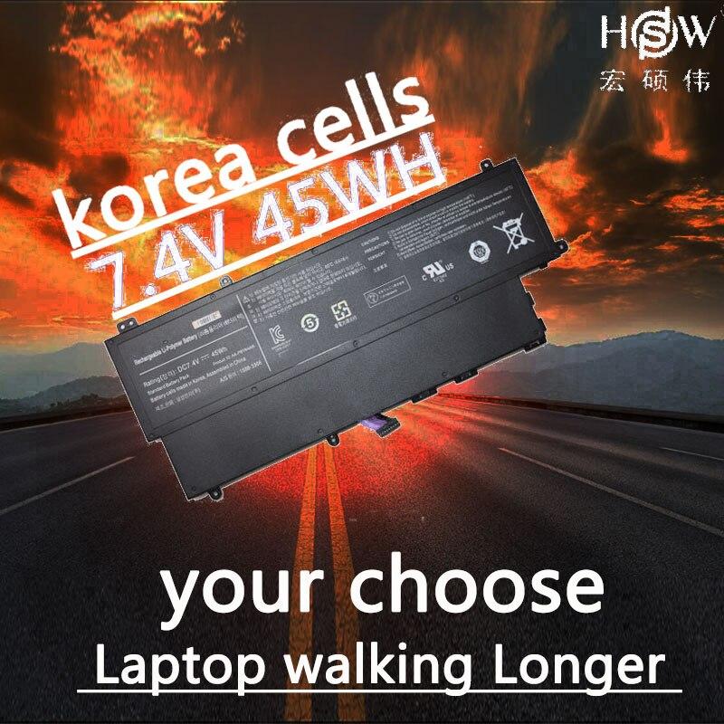 Bateria nova de hsw 7.4 v 45wh AA-PBYN4AB para samsung ultrabook 530u3c np530u3b np530u3c 530u3c-a01 530u3c-a02 530u3c-a03