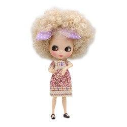 Icy dbs blyth boneca 1/6 bjd onda cabelo com cabelo grande comum corpo branco pele qe337 menina brinquedos diy oferta especial