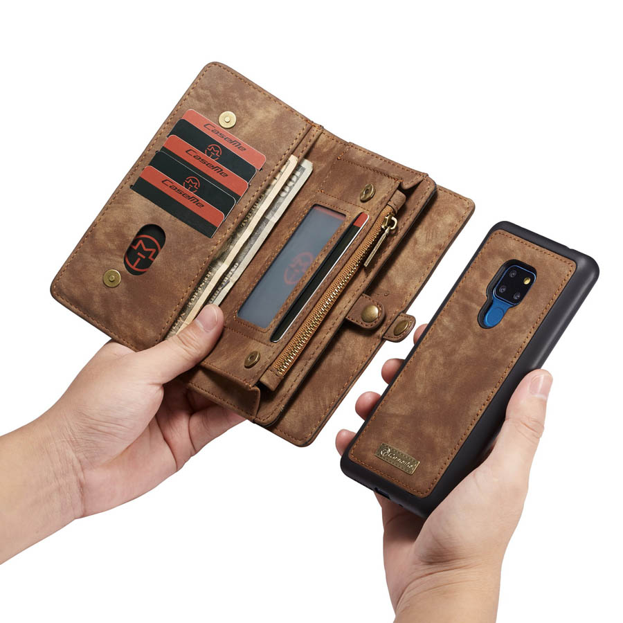 Luxury Genuine Flip Wallet Leather Mobile Phone Back Cove Case for Huawei Mate 20 Pro Mate 20Pro P30 P30 Pro Lite P20 Pro Case-in Wallet Cases from Cellphones & Telecommunications
