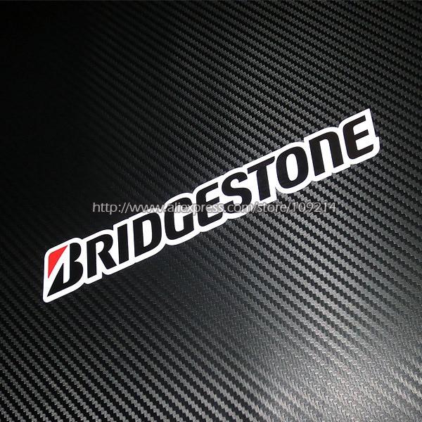 "BRIDGESTONE ""B"" sticker//decal x2"