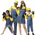 Childrens/Adults Boys/Girls Mens/Womens Minion Costume Halloween Anime Despicable Me Cosplay Costumes Suits Family Party Clothes
