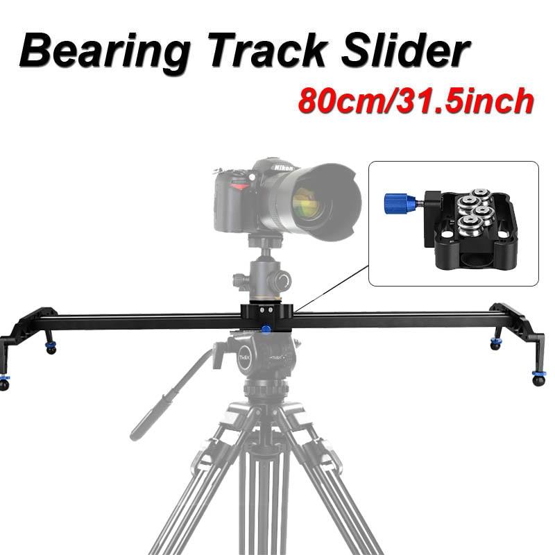 """Skilled 80Cm/31.5"""" Bearing Video Observe Slider Dolly Stabilizer System For Dslr Digital camera Camcorder / Higher Than Sliding-Pad"""
