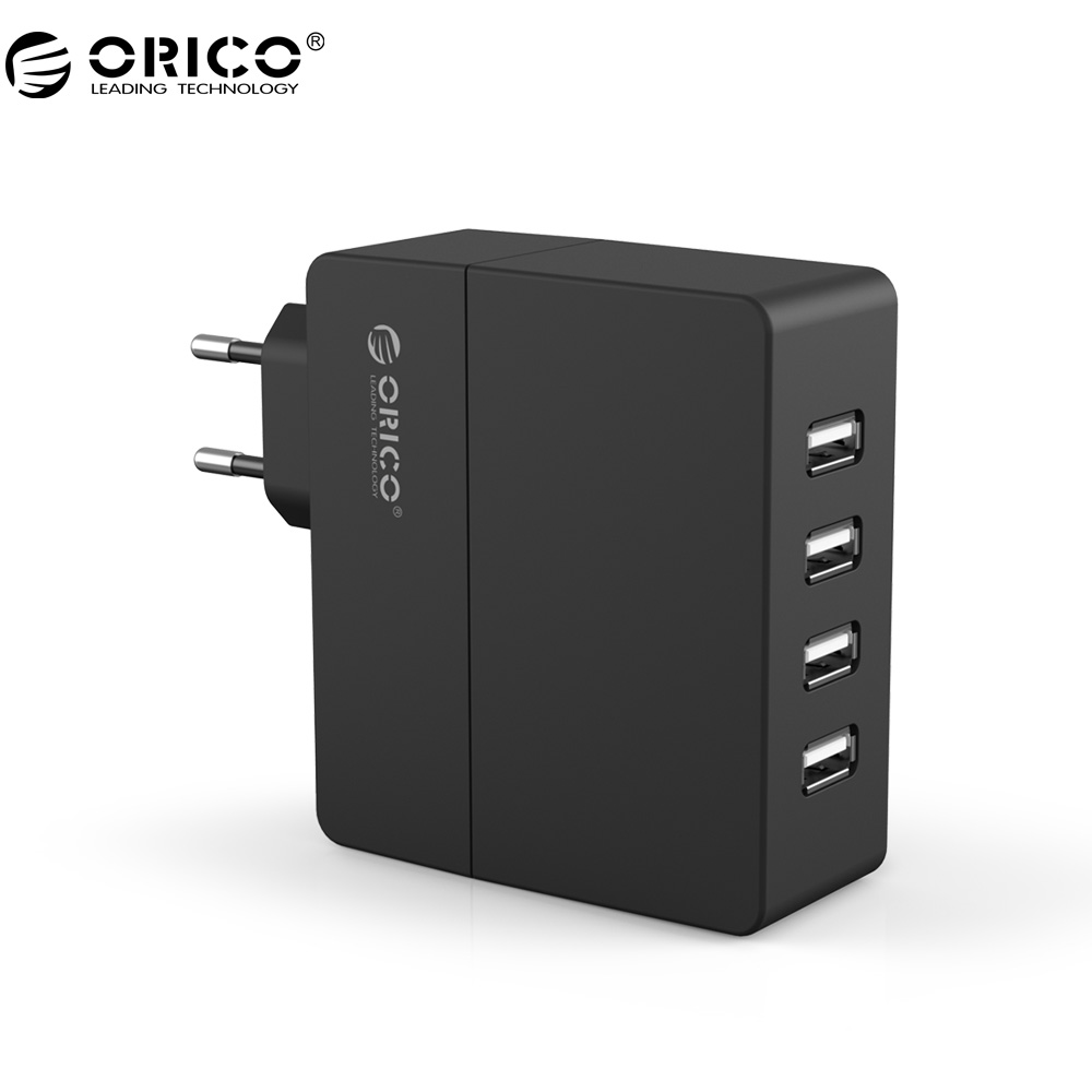 ORICO DCA-4U-V1 4 Port 30W USB Charger Portable Wall Travel Charger for Phone Tablet USB Devices EU/AU/UK/US plug Charger