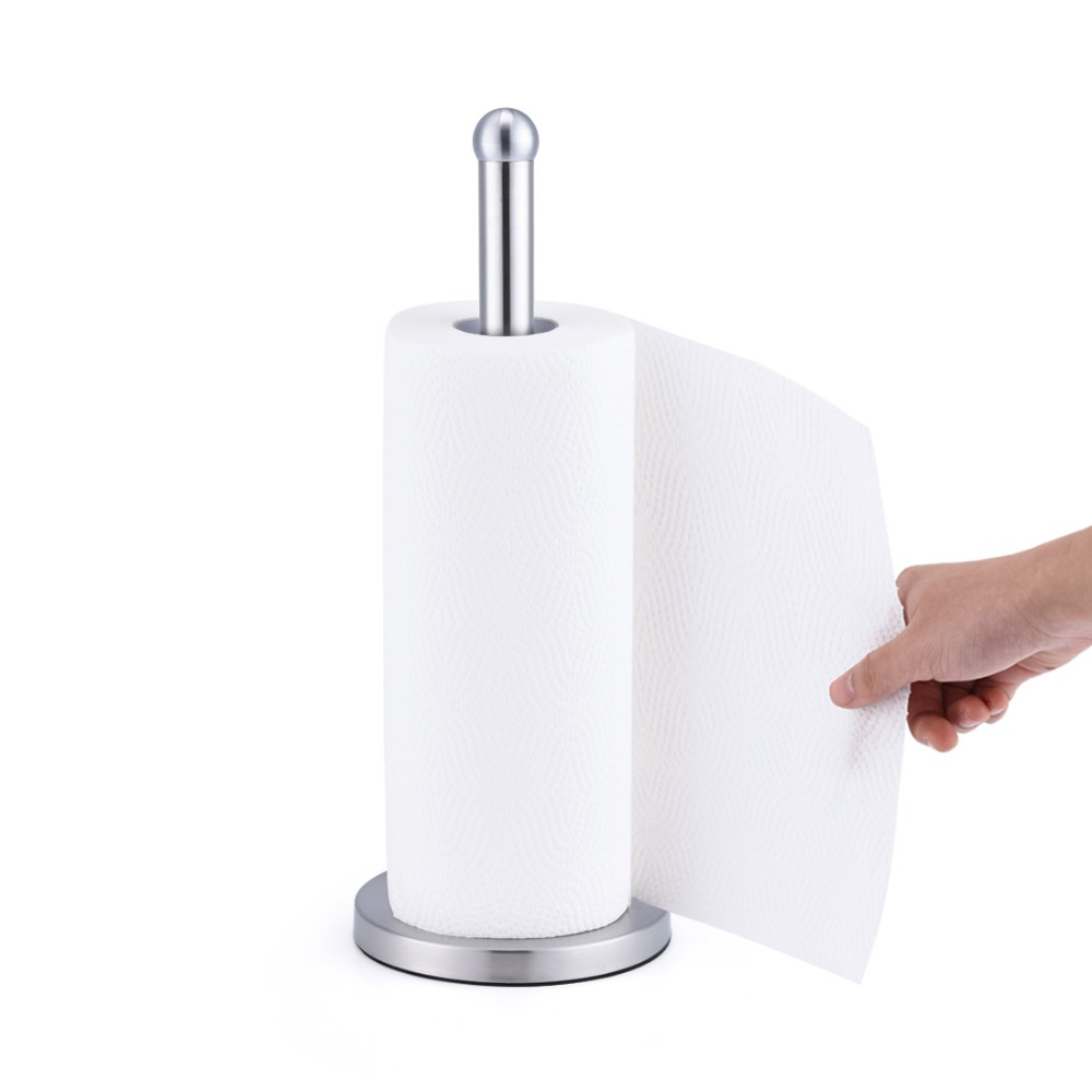 Stainless Steel Kitchen Roll Paper Holder Bathroom Toilet Paper ...
