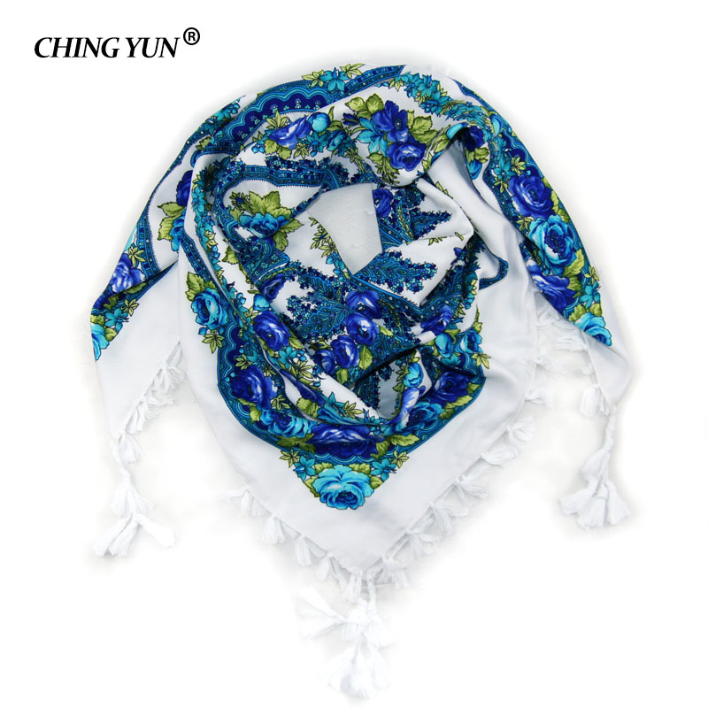 2017 hot sale new fashion woman Scarf square scarves tassel