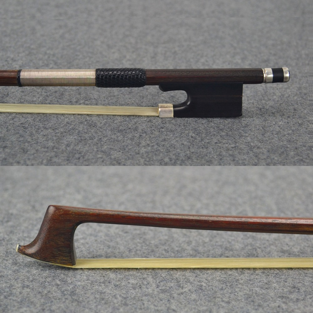 FREE CASE 4/4 Size Master Pernambuco VIOLIN BOW Ebony Frog 100% Silver Mounted Natural White Horsehair Violin Parts Accessories violin bow 4 4 high grade brazil wood ebony frog colored shell snake skin violino bow fiddle violin parts accessories bow