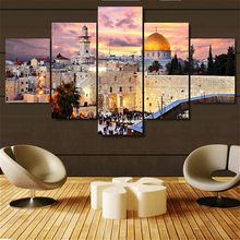Jerusalem Sunset Landscape Print Poster Wall Art Picture Canvas Painting for Dining Room Home Decor Islamism Church Dropship