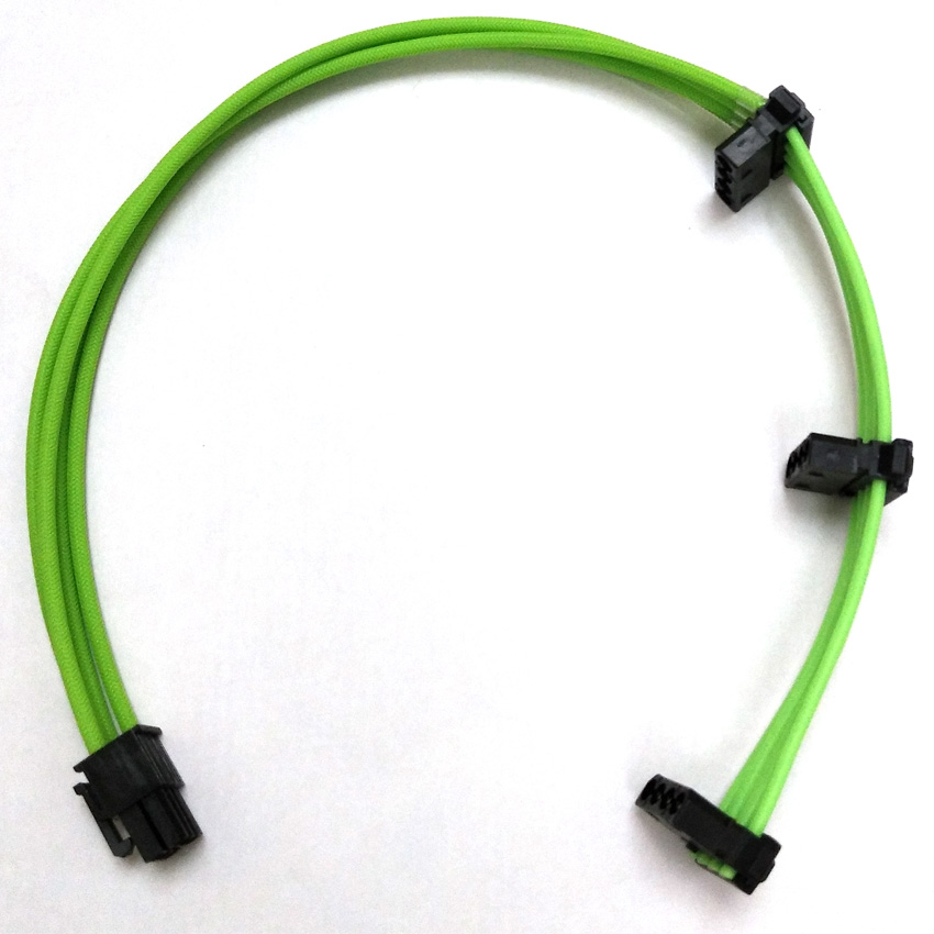 WinKool Multi-color Options Individually 6Pin Male to Molex 4Pin Sleeved <font><b>Cable</b></font> For <font><b>Corsair</b></font> Modular <font><b>PSU</b></font> RMi RMx SF Series SF600 image