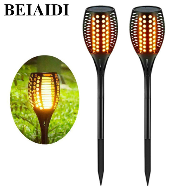 Beiaidi 2pcs led solar flickering tiki torches light 96 led dancing beiaidi 2pcs led solar flickering tiki torches light 96 led dancing flame lighting outdoor patio garden workwithnaturefo
