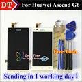 Высокое Качество Нового ЖК-Дисплей + Дигитайзер Сенсорный Экран Стекла тяга Для Huawei Ascend G6 Мобильный Телефон 4.5 дюймов 960*540 Бесплатно подарки