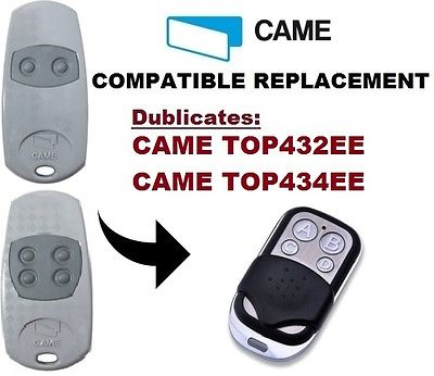 CAME TOP432EE / TOP434EE Garage Door/Gate Remote Control Replacement/Duplicator 433.92MHZ