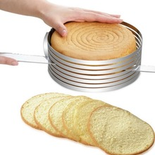 Non-Stick DIY Home Bake Cake Cutter Large Size Tart Ring Mousse Circle Mould Stainless Steel Slicer Round